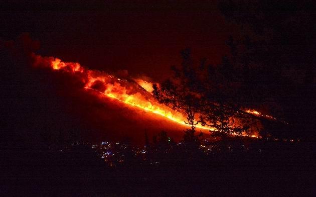 О новом пожаре возле Кармиэля